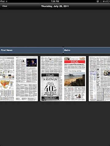 Star Telegram iPad appriver of digital news