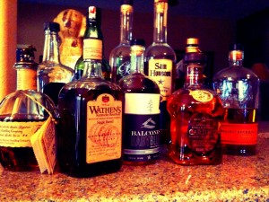 Whiskey bottles in my collection